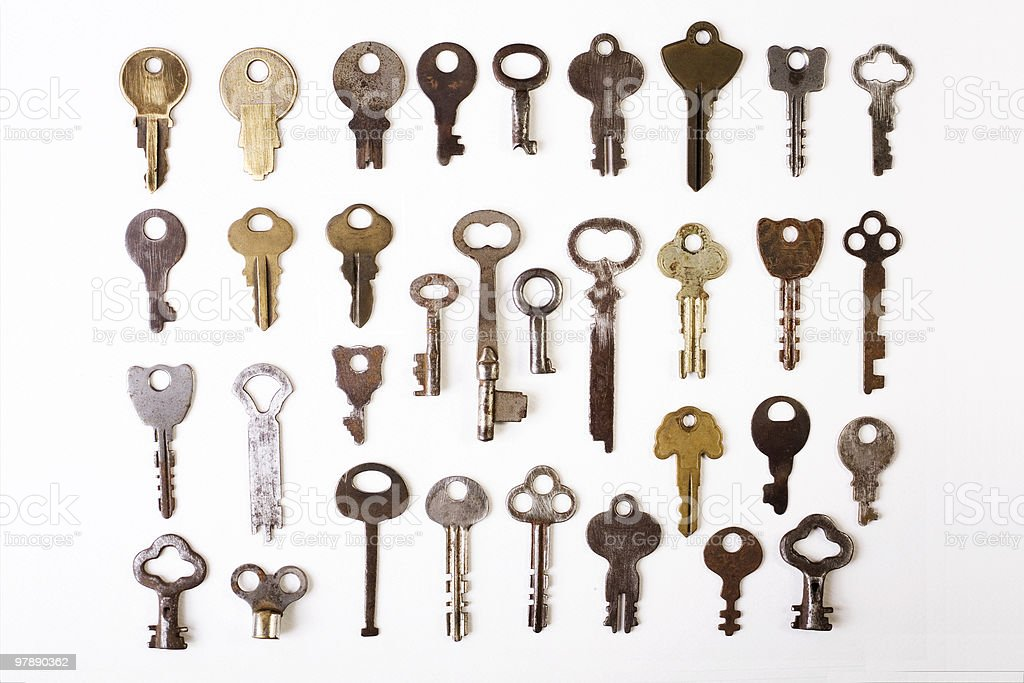 Old Keys royalty-free stock photo