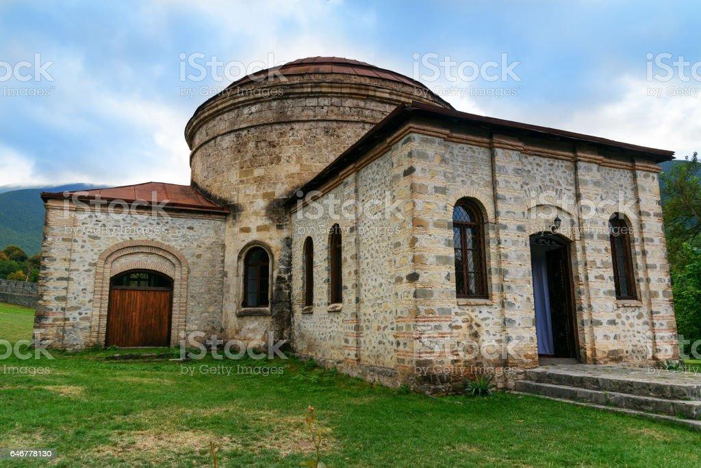 Old Khan mosque. Sheki. Azerbaijan stock photo