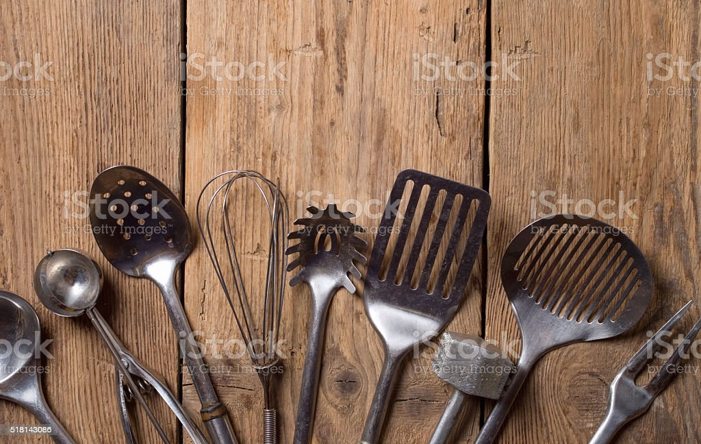 Old kitchenware stock photo