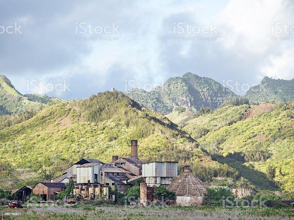 Old Koloa Sugar Mill stock photo