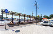 Kolomna, Russia - July 7, 2020: Old Kolomna bus station in summer day