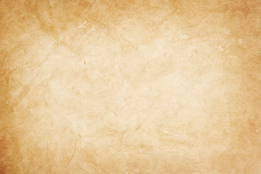 old  kraft paper texture or background with vignette borders