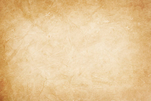 old  kraft paper texture or background old  kraft paper texture or background with vignette borders lighting technique stock pictures, royalty-free photos & images