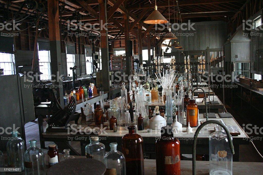 Old Laboratory stock photo