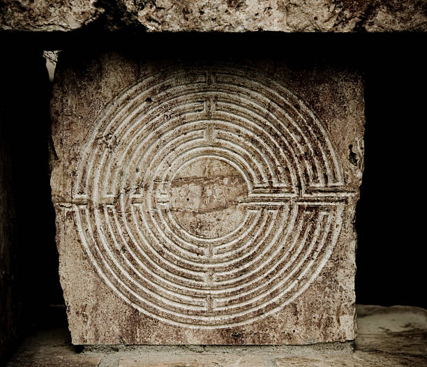 Old Labyrinth stock photo