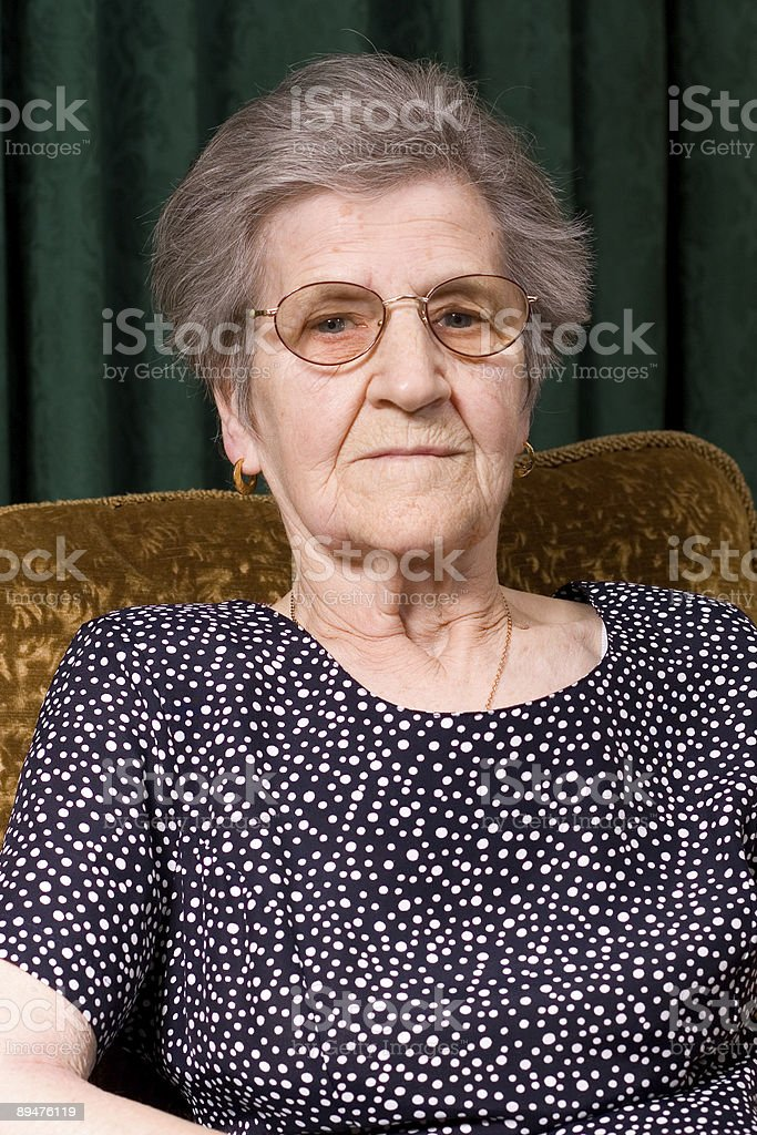 Old Lady in Chair royalty-free stock photo