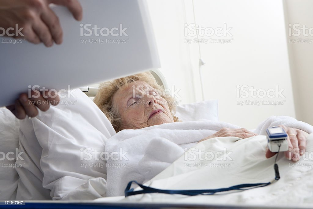Old Lady in Hospital royalty-free stock photo