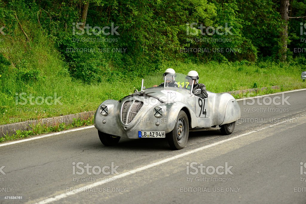 old lancia car running in mille miglia race stock photo & more