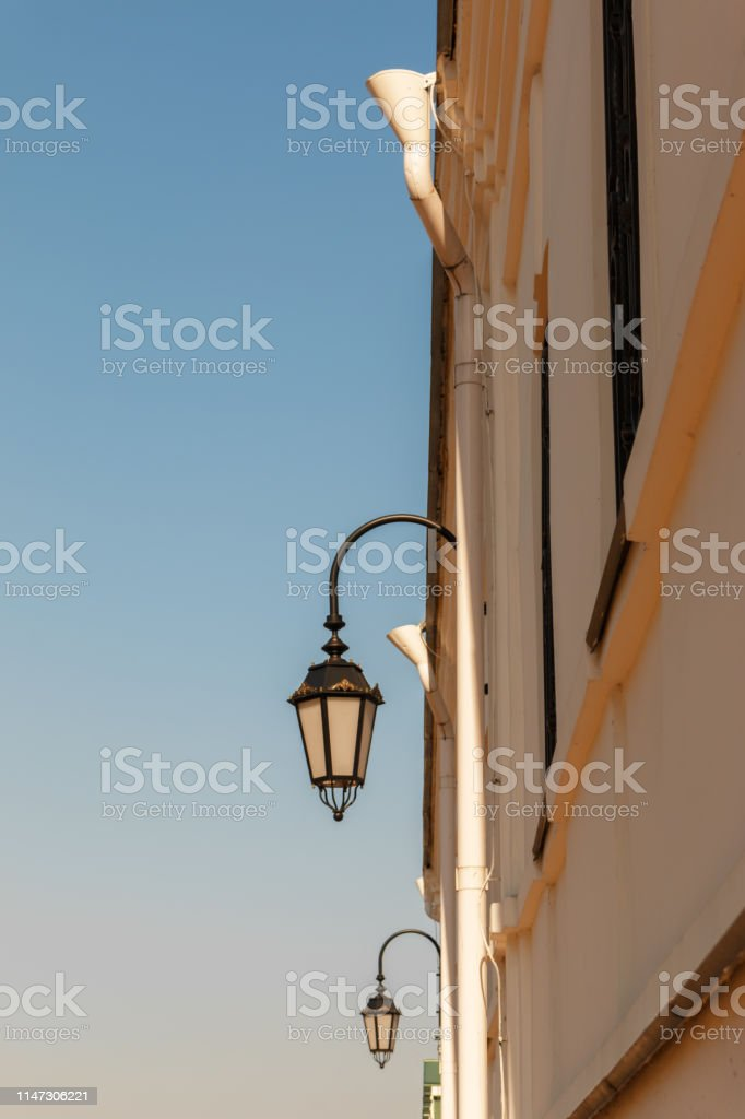 Miraculous Old Lanterns On The White Stone Wall Of The Old Old House Download Free Architecture Designs Embacsunscenecom