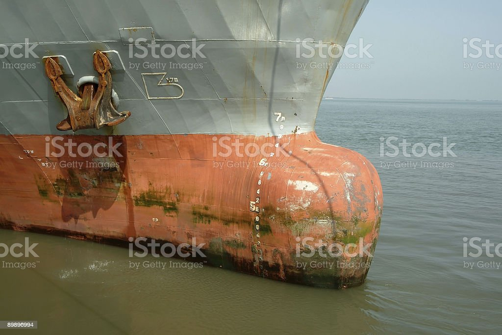 Alte große rostige Schiff Ankern Lizenzfreies stock-foto
