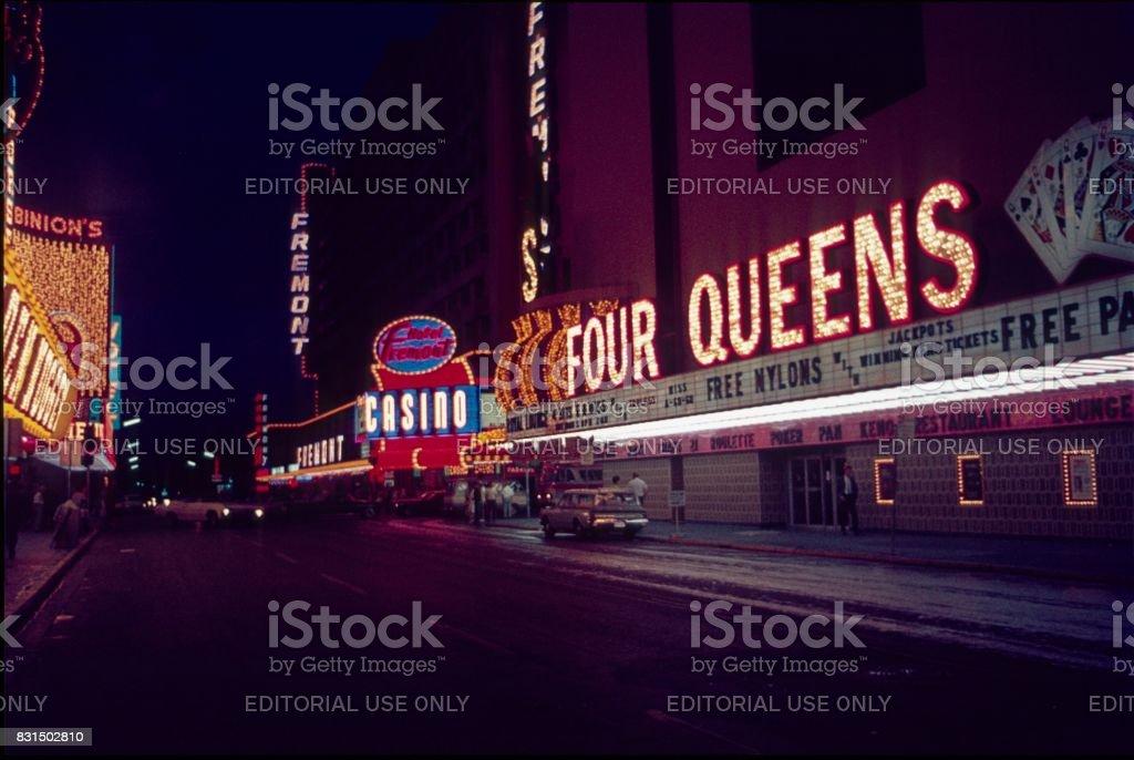 Old Las Vegas, 1968 stock photo