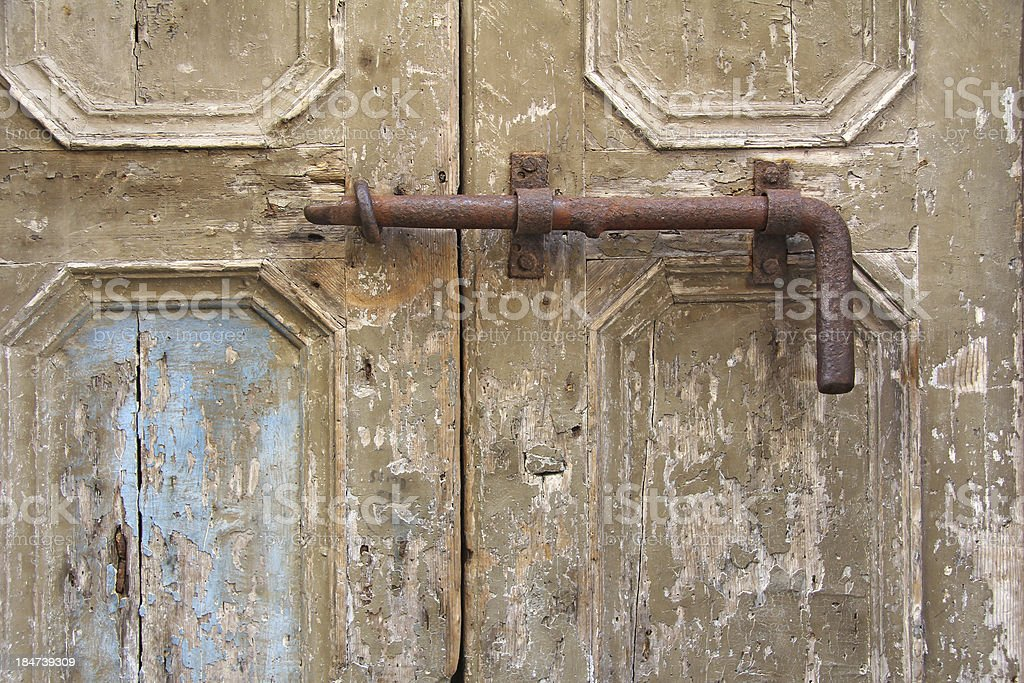 old latch royalty-free stock photo