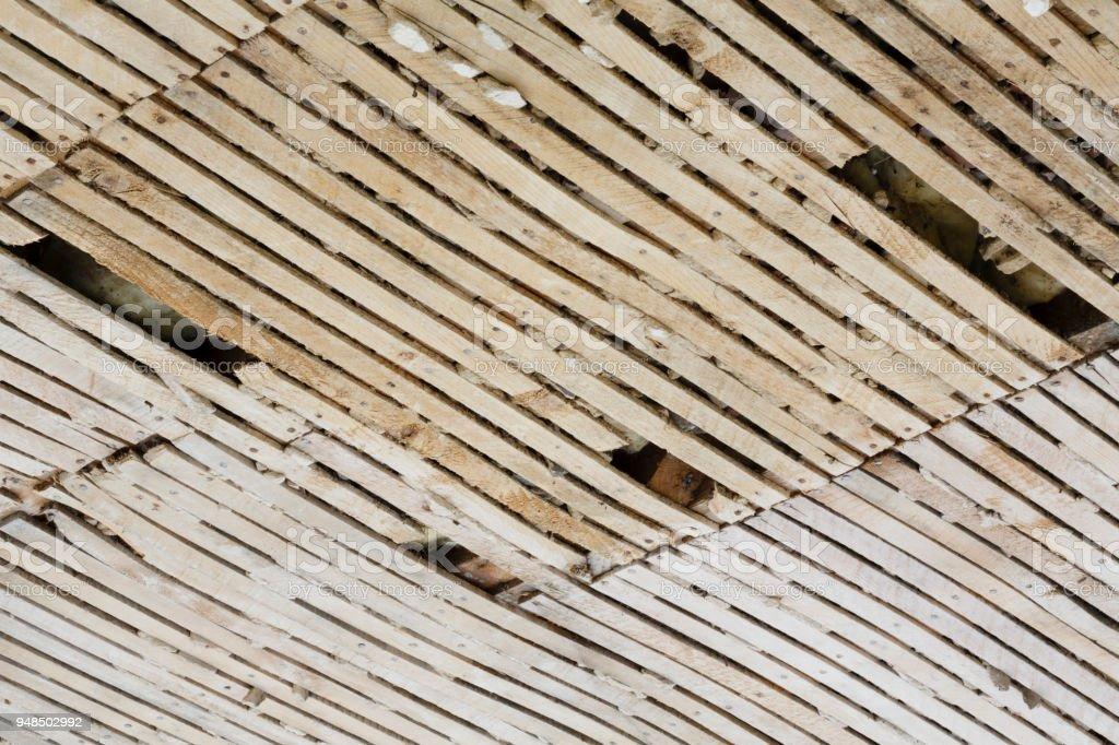 Vieux Lattis Et Plafond En Plâtre Photos Et Plus Dimages De Bois