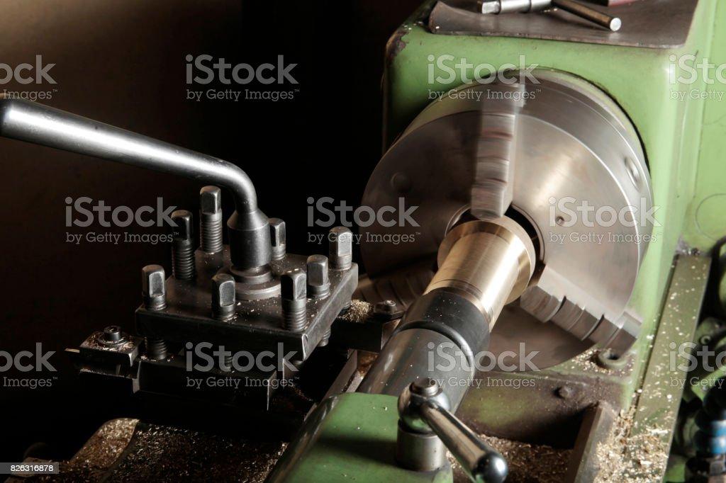 Vieille Machine-outil de l'atelier photo libre de droits