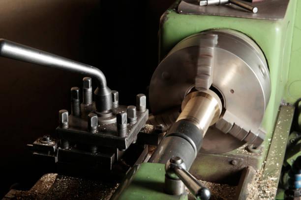 Vieille Machine-outil de l'atelier - Photo