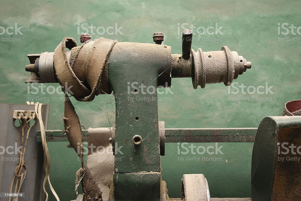 Old Lathe stock photo