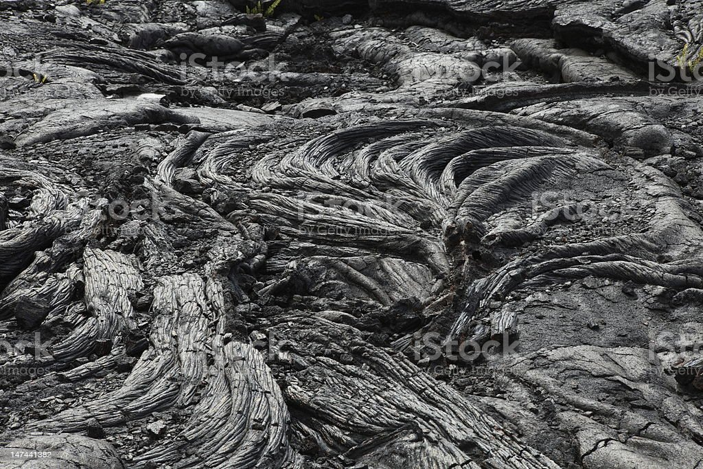 Old lava flow in Hawaii stock photo