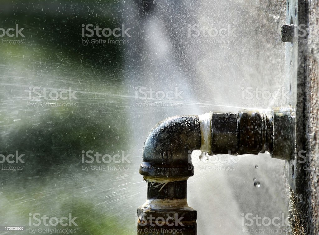 Old Leaky Pipe stock photo