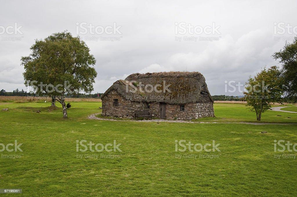 Old Leanach Cottage stock photo