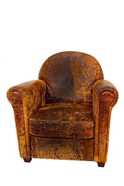 alte leder-sessel, couch - ledersessel braun stock-fotos und bilder