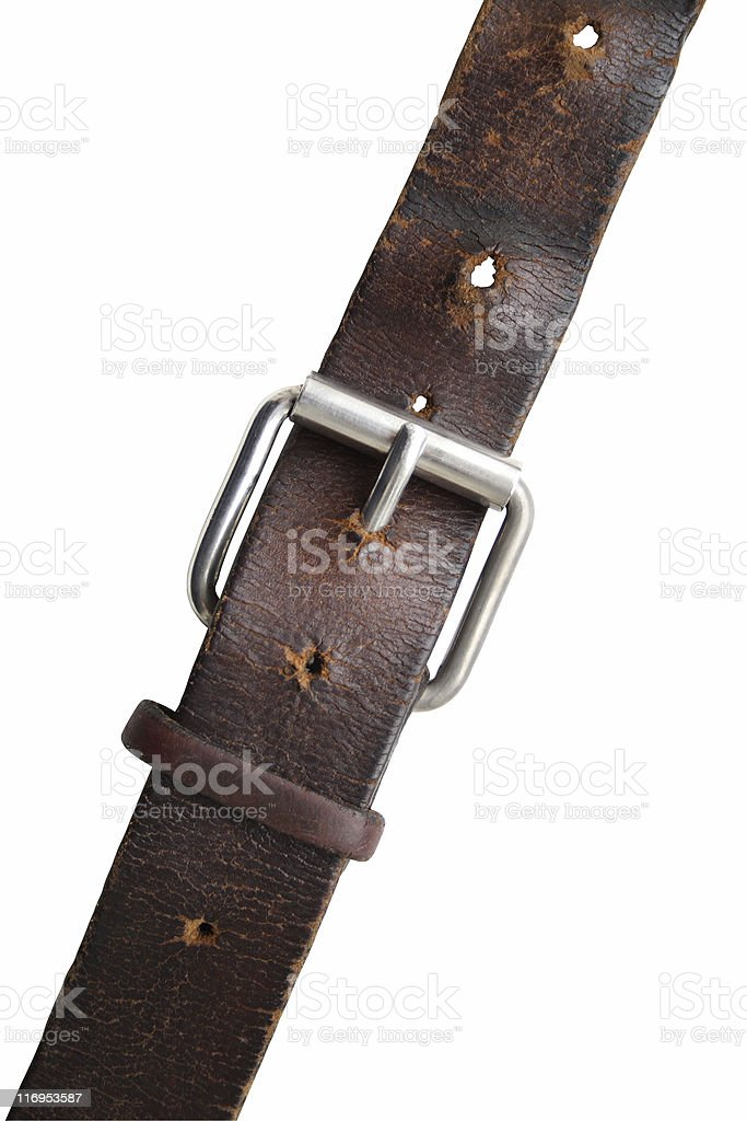 Old Leather Belt stock photo