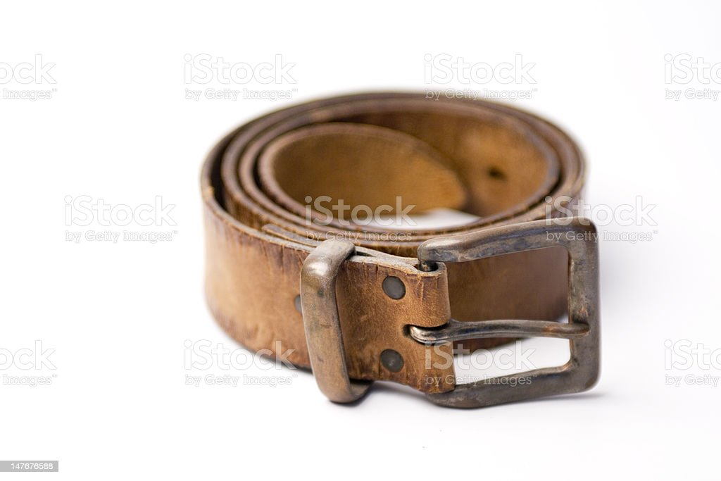 Old leather belt royalty-free stock photo