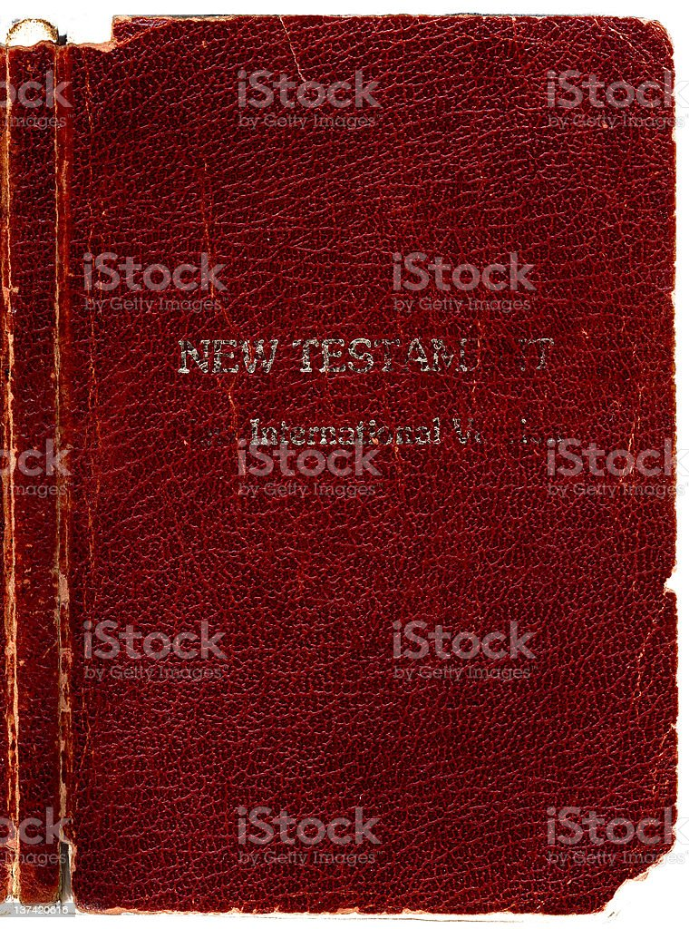 Old Rugged leather Bible book cover- New Testament with Spine. Hi-res...