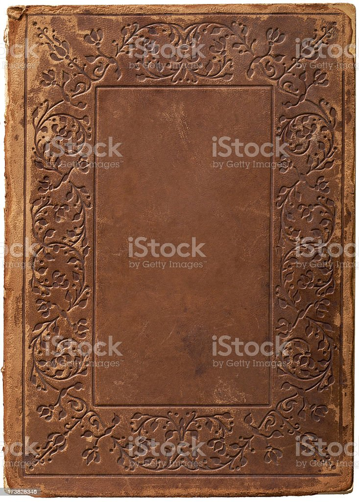 Old Leather Book Cover Background stock photo