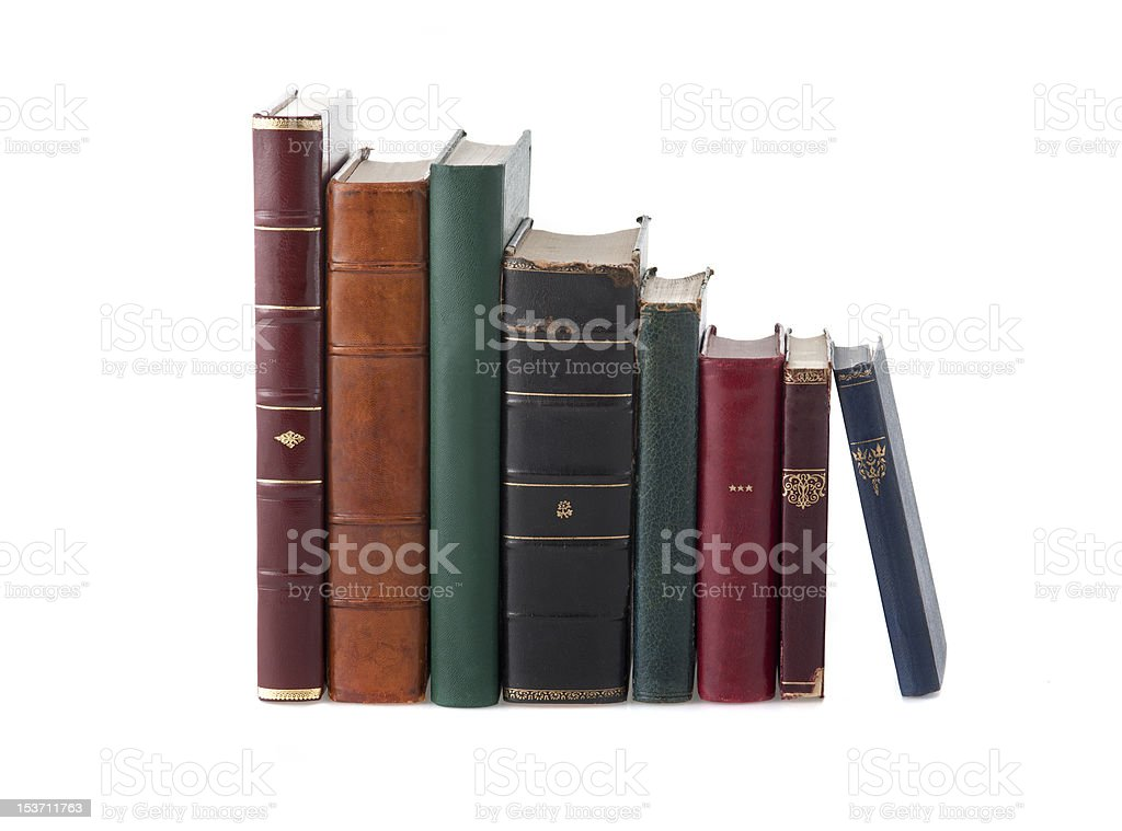 Old Leather Books royalty-free stock photo