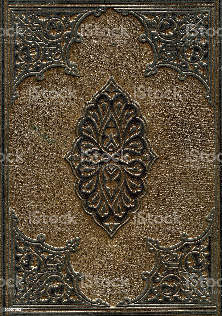 Old leather bound Bible stock photo