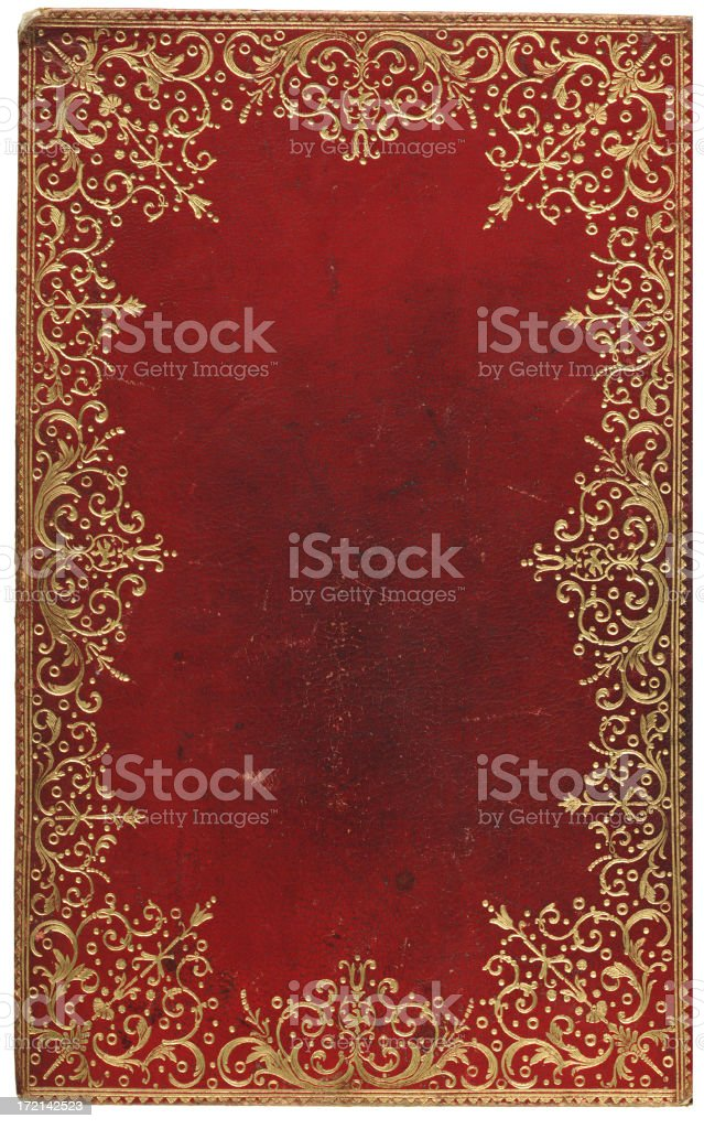 Old Leather Cover stock photo