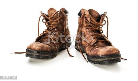 istock Old leather shoes 464621465