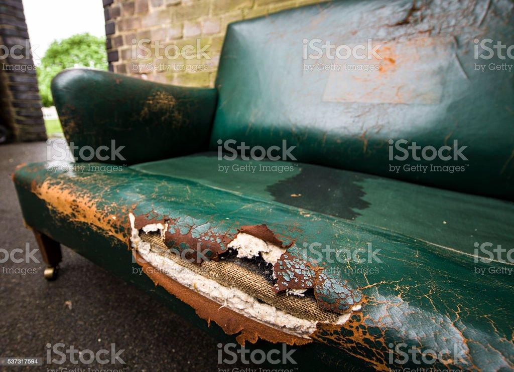 Old Leather Sofa Stock Photo
