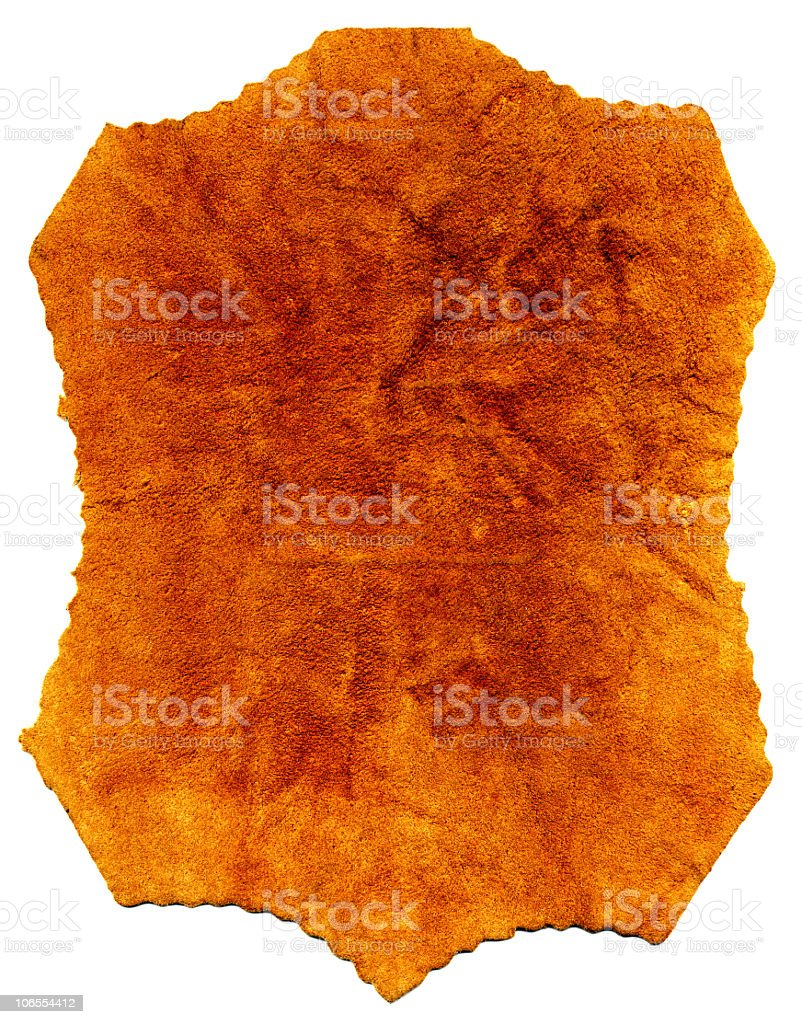 Old leather with tattered eges. royalty-free stock photo