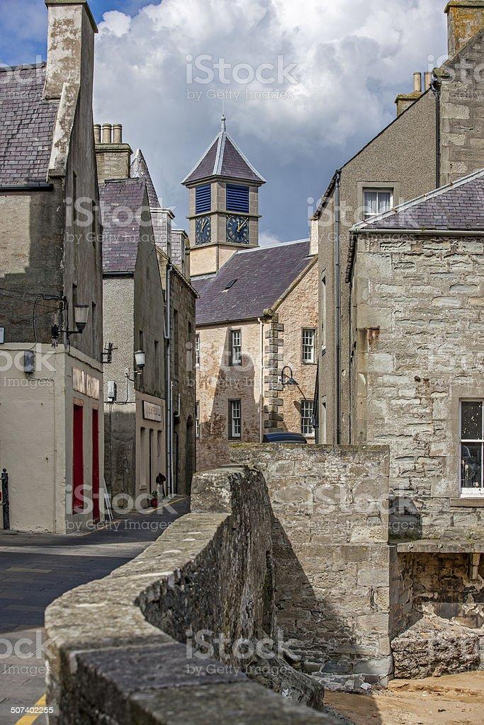 Old Lerwick, Shetland,Scotland-2 stock photo