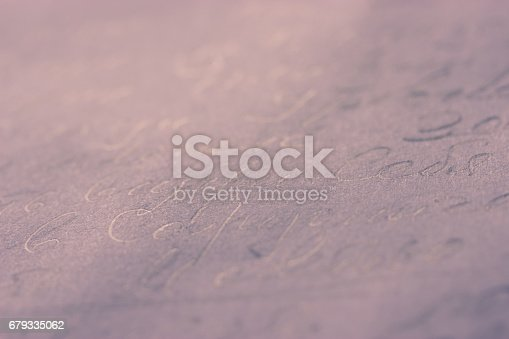 istock old letter on a paper 679335062