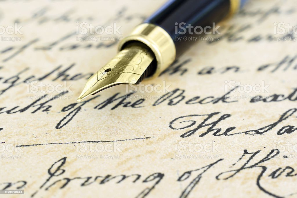 Old letter royalty-free stock photo
