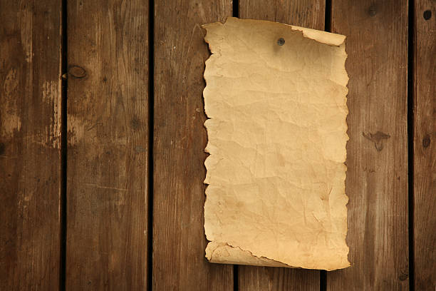 old letter posted to the door - curled up stock pictures, royalty-free photos & images