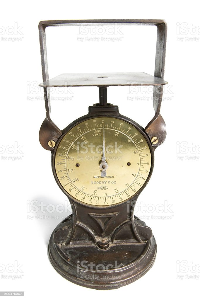 Old Letter Scale stock photo