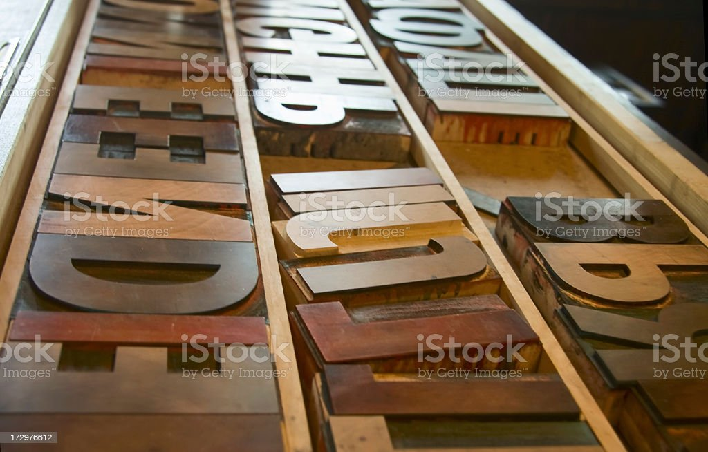 Old Letterpress letters royalty-free stock photo