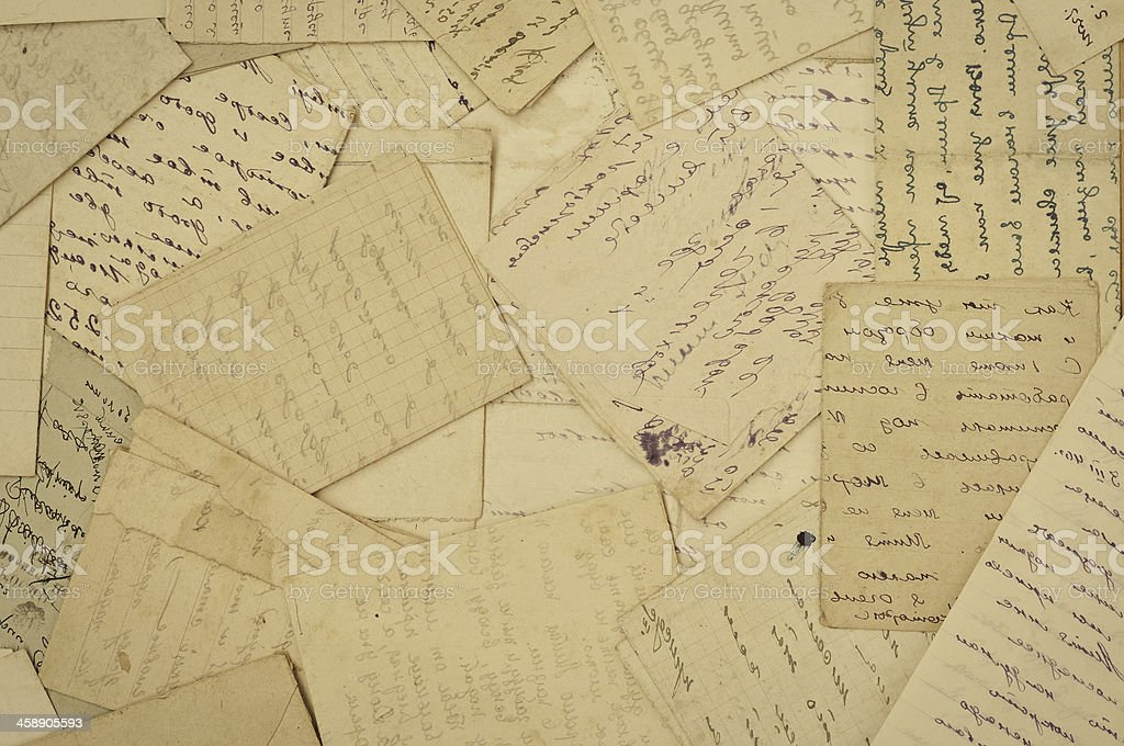 old de cartas - foto de stock