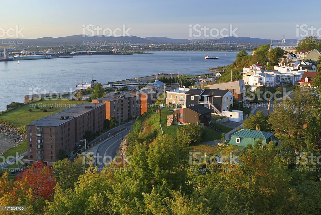Old Levis city near the St-Lawrence river royalty-free stock photo