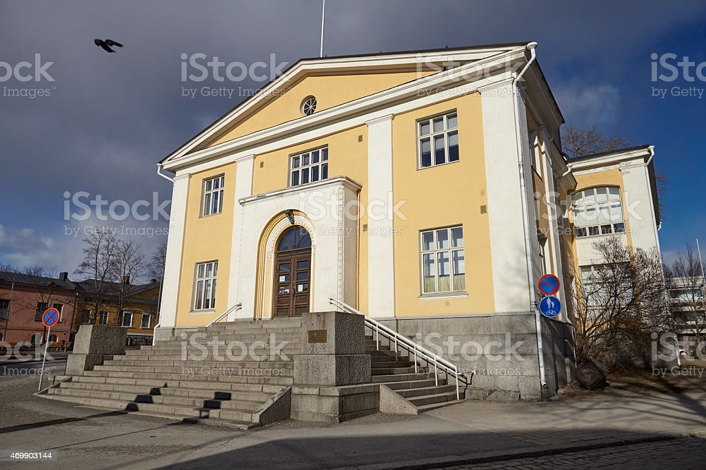 Old library exterior stock photo