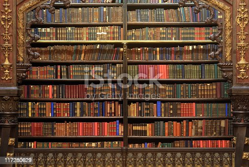 istock Old library 117280629