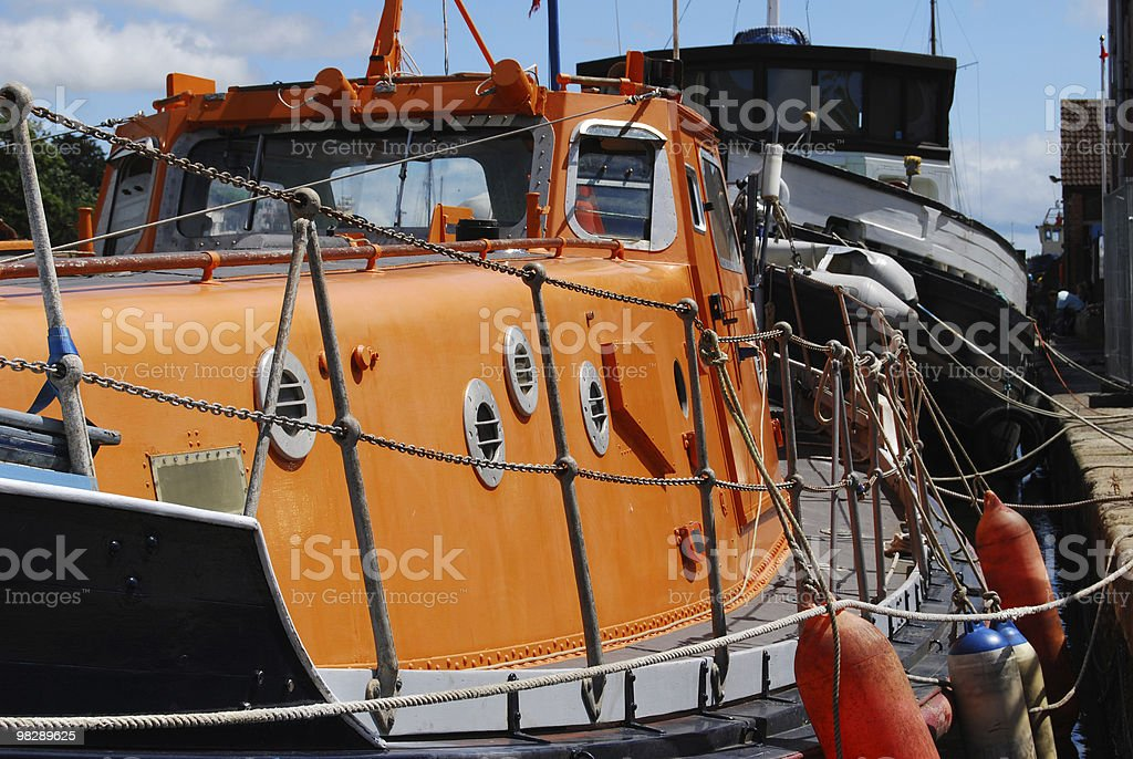 Old Lifeboat at Exeter Historic Quayside. Devon. England royalty-free stock photo