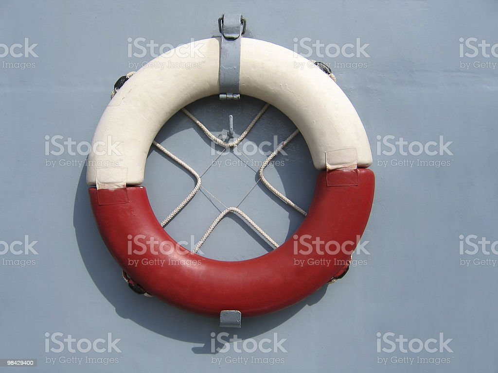 old lifebuoy royalty-free stock photo