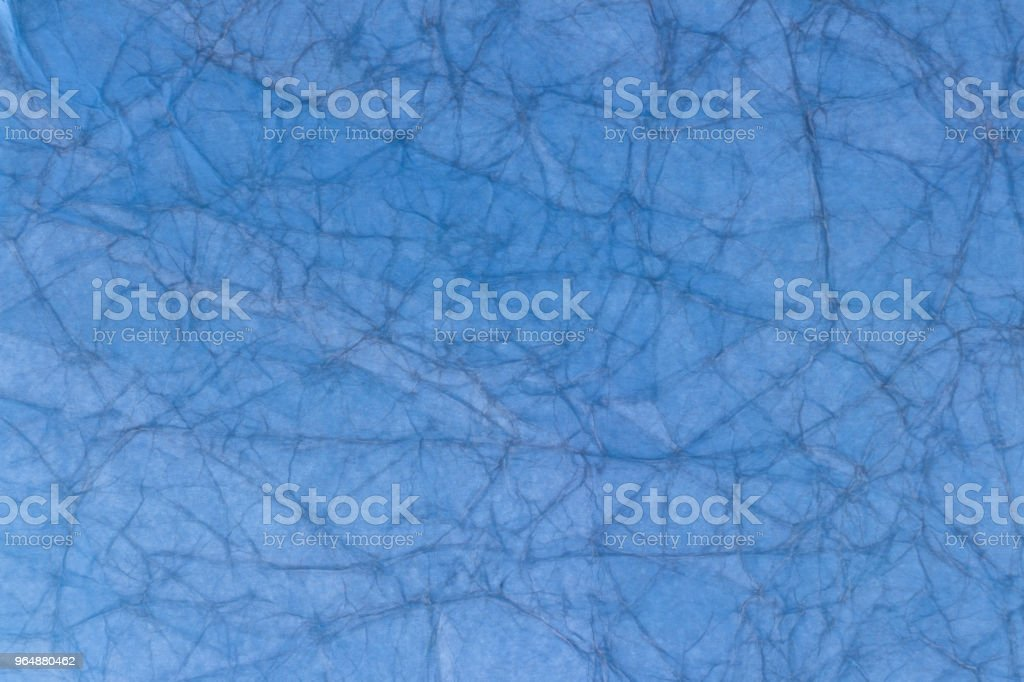 Old light blue crumpled paper royalty-free stock photo