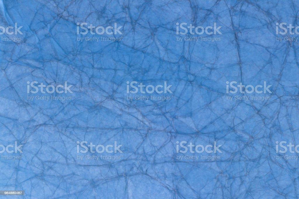 老淺藍色皺巴巴的紙 - 免版稅具有特定質地圖庫照片