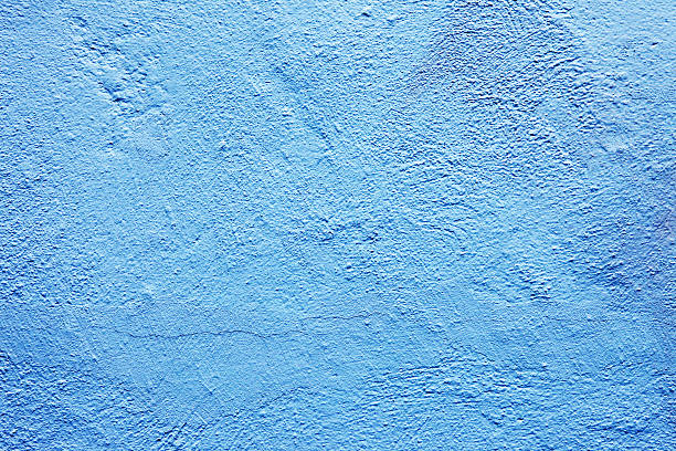Old light blue wall texture background stock photo