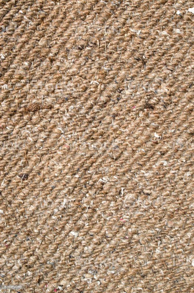 Old light brown woven wool fabric closeup stock photo